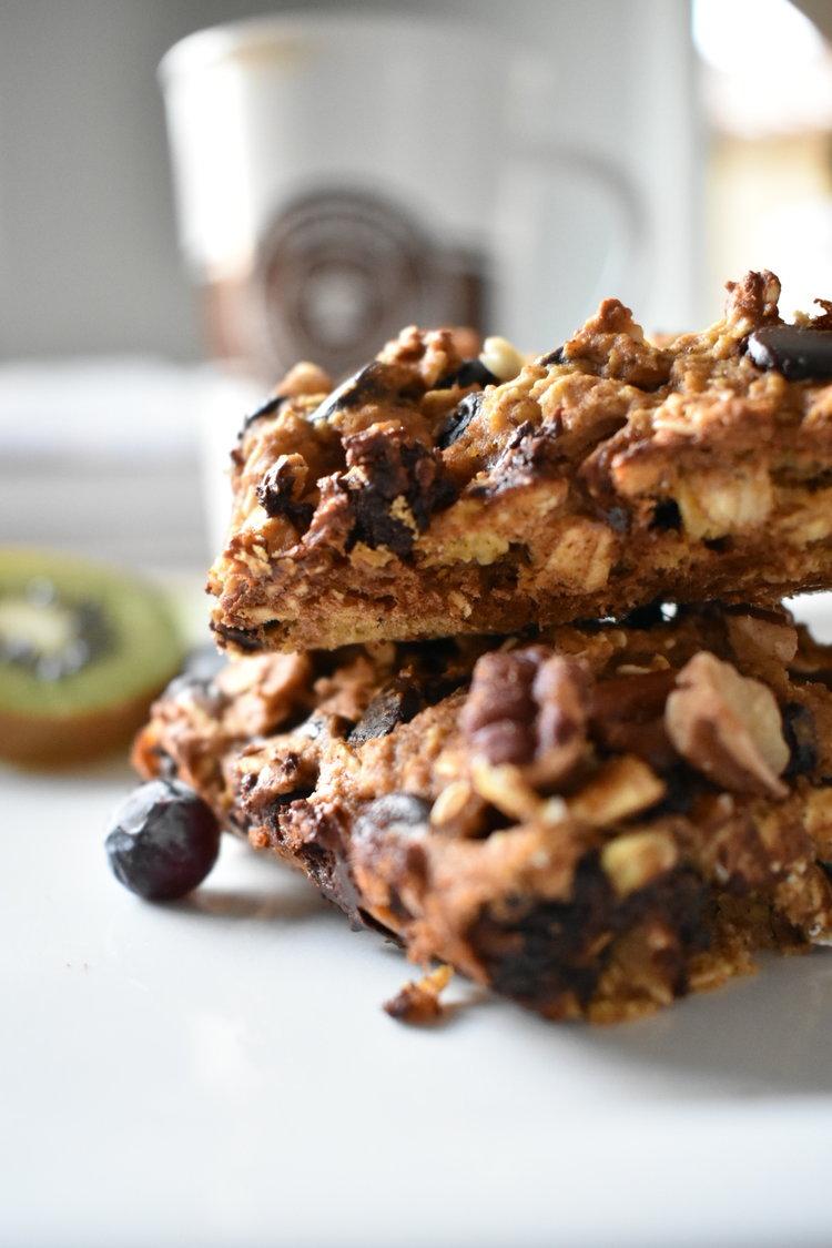 Choc-Oat Nut Breakfast Bars